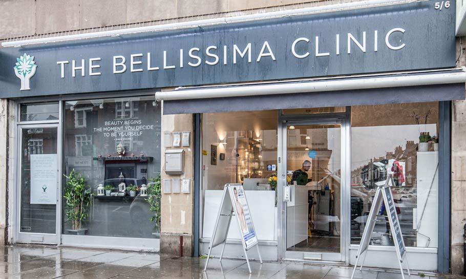 Bellissima Clinic shop front